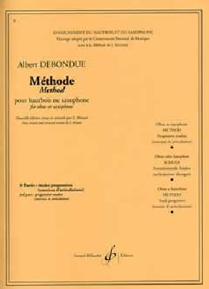 Albert Debondue - Méthode de Hautbois ou saxo - Volume 3 - Partition - di-arezzo.fr