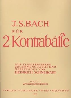 Bach für 2 Kontrabässe – Heft 1 - laflutedepan.com