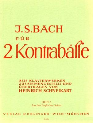 Bach für 2 Kontrabässe - Heft 3 laflutedepan