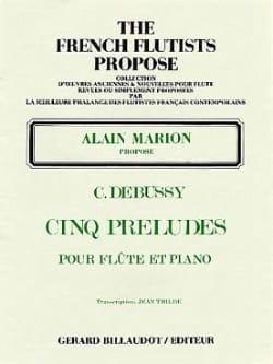 5 Préludes - Claude Debussy - Partition - laflutedepan.com