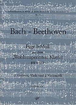 Bach Johann Sebastian / Beethoven Ludwig Van - Fuge b-moll BWV 867 –2 Vln Va 2 Vlc - Stimmen - Partition - di-arezzo.fr