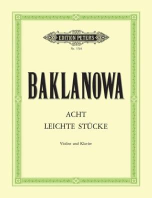 Natalja Baklanowa - 8 Leichte Stücke für Violine und Klavier - Sheet Music - di-arezzo.co.uk