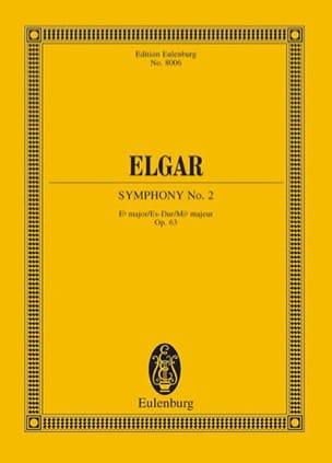 Edward Elgar - Symphonie Nr. 2 Es-Dur op. 63 – Partitur - Partition - di-arezzo.fr