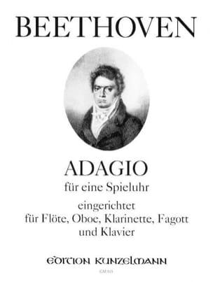 BEETHOVEN - Adagio für eine Spieluhr -Flöte Oboe Klarinette Fagott Klavier - Partition - di-arezzo.fr