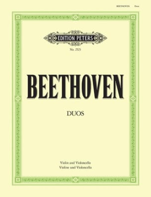 BEETHOVEN - Duos - Violin Cello - Partition - di-arezzo.fr