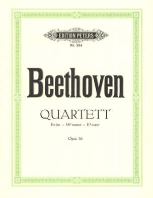 BEETHOVEN - Quartett Es-Dur op. 16 - Stimmen - Partitura - di-arezzo.es