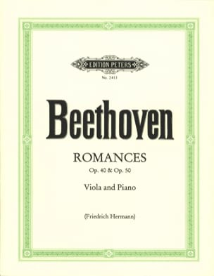 Romances op. 40 and op. 50 - Viola BEETHOVEN Partition laflutedepan