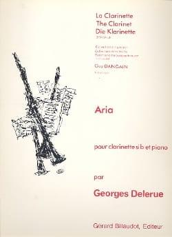 Aria - Georges Delerue - Partition - Clarinette - laflutedepan.com