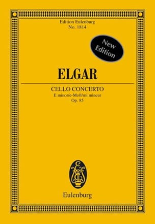 ELGAR - Concerto For Cello And Orchestra In E Minor Op. 85 - Conductor - Sheet Music - di-arezzo.co.uk