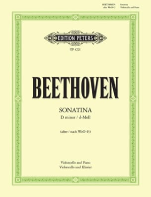 Ludwig van Beethoven - Sonatina D minor - Partition - di-arezzo.fr