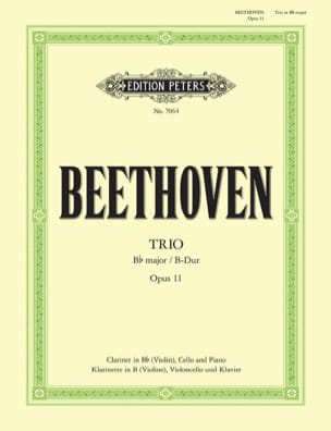 BEETHOVEN - Trio in B-Dur op. 11 - Klarinette Violine Cello Klavier - Sheet Music - di-arezzo.co.uk
