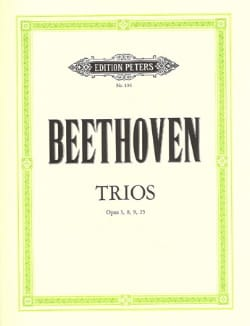 BEETHOVEN - Trios op. 3, 8, 9, 25 - Stimmen - Partition - di-arezzo.com