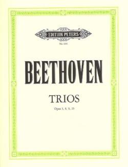 BEETHOVEN - Trios op. 3, 8, 9, 25 -Stimmen - Partition - di-arezzo.fr