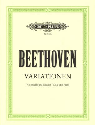 Variationen - Cello Klavier BEETHOVEN Partition laflutedepan
