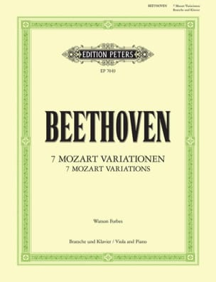 BEETHOVEN - 7 Mozart Variationen - Partition - di-arezzo.fr