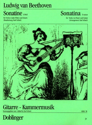Beethoven Ludwig van / Scheit Karl - Sonatine d-Moll – Violine (o. Flöte) Gitarre - Partition - di-arezzo.fr