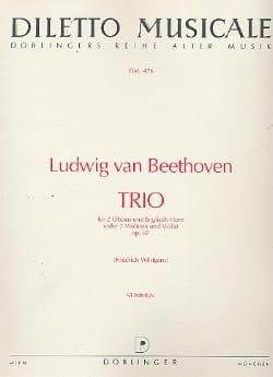 BEETHOVEN - Trio C-Dur op. 87 - 2 Oboen Englischhorn - Stimmen - Sheet Music - di-arezzo.co.uk