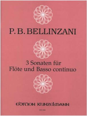 3 Sonaten -Flöte und Bc Paolo Benedetto Bellinzani laflutedepan