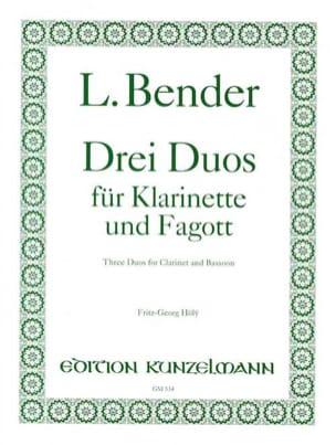 L. Bender - 3 Duos – Klarinette und Fagott - Partition - di-arezzo.fr