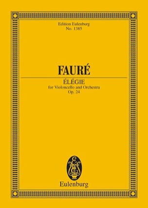 Gabriel Fauré - Elegy - Sheet Music - di-arezzo.co.uk