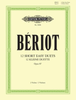12 Short easy duets op. 87 BÉRIOT Partition Violon - laflutedepan