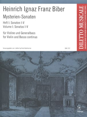 Heinrich Ignaz Franz Biber - Mysterien-Sonaten, Heft 1, für Violine und Generalbass - Partition - di-arezzo.fr