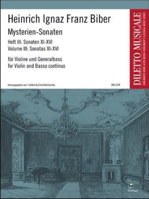 Heinrich Ignaz Franz Biber - Mysterien-Sonaten, Heft 3, für Violine und Generalbass - Partition - di-arezzo.fr