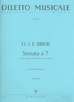 Heinrich Ignaz Franz Biber - Sonata A 7 C-Dur (Do M.) - 6 Trompettes-Timbales-B. C. - Partition - di-arezzo.fr