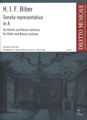Sonata Representativa in A BIBER Partition Violon - laflutedepan