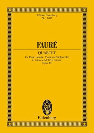 Klavier-Quartett N° 1 - Conducteur FAURÉ Partition laflutedepan
