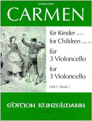 Georges Bizet - Carmen für Kinder, Heft 1 -3 Violoncello - Partition - di-arezzo.fr