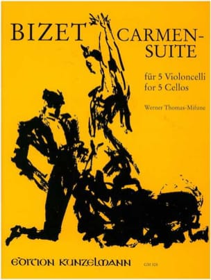 Georges Bizet - Carmen Suite - 5 Violoncelles - Partition - di-arezzo.fr