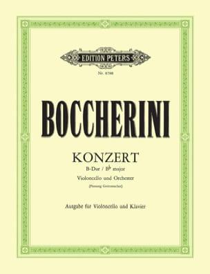 BOCCHERINI - Konzert B-Dur G.482 Fassung Grützmacher - Partition - di-arezzo.fr