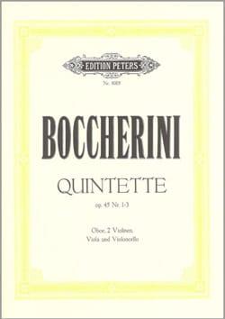3 Quintette op. 45 n° 1-3 - Stimmen BOCCHERINI Partition laflutedepan