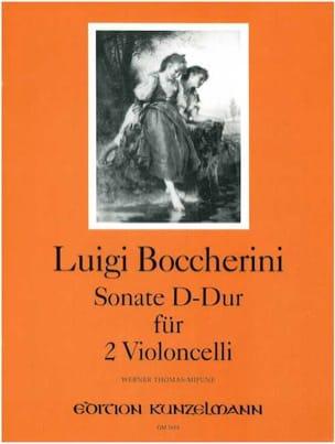 Sonate D-Dur - 2 Violoncelles BOCCHERINI Partition laflutedepan