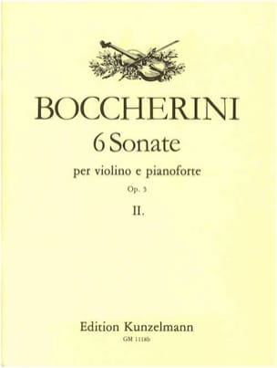 6 Sonates op. 5, Volume 2 - Violon BOCCHERINI Partition laflutedepan