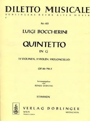 Quintetto in G-Dur op. 60 n° 5 -Stimmen - laflutedepan.com