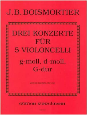 Joseph Bodin de Boismortier - 3 Concertos pour 5 Violoncelles - Partition - di-arezzo.fr