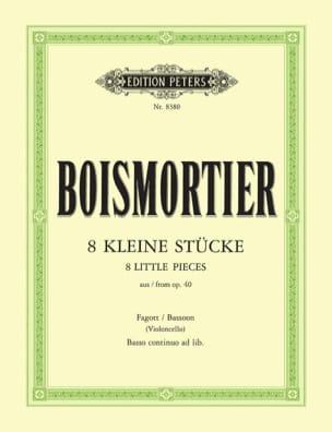 BOISMORTIER - 8 Kleine Stücke aus op. 40 - Fagott Cello u. Bc - Sheet Music - di-arezzo.com