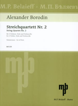 Alexandre Borodine - Streichquartett Nr. 2 D-dur –Stimmen - Partition - di-arezzo.fr