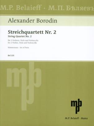 Alexandre Borodine - Streichquartett Nr. 2 D-dur -Stimmen - Partition - di-arezzo.ch