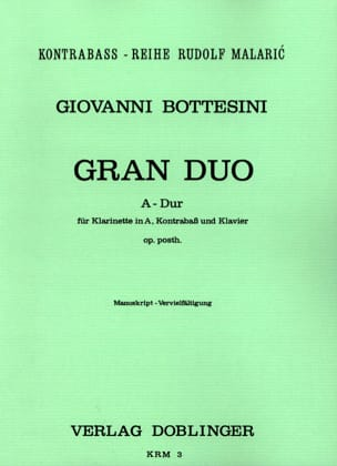 Giovanni Bottesini - Gran Duo Hard-Klarinette in A Kontrabass Klavier - Sheet Music - di-arezzo.com