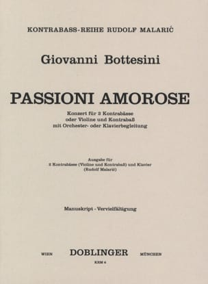 Passione amorose - Giovanni Bottesini - Partition - laflutedepan.com