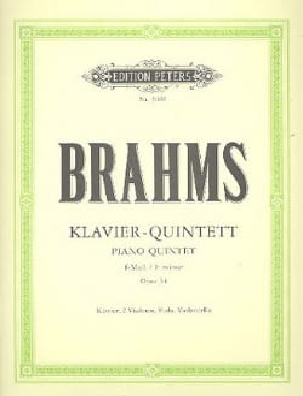 Klavierquintett f-moll op. 34 -Stimmen BRAHMS Partition laflutedepan