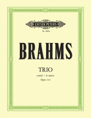 Johannes Brahms - Trio in a-moll op. 114 –Klavier Klarinette Violoncello - Partition - di-arezzo.fr