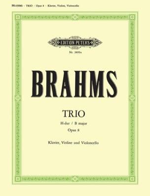 BRAHMS - Klaviertrio H-Dur op. 8 - Stimmen - Partition - di-arezzo.co.uk