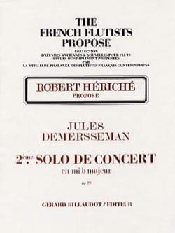 Jules Demersseman - 2º concierto solista en mib maj. op 20 - Flauta y piano - Partitura - di-arezzo.es