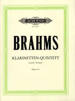 BRAHMS - Klarinetten-Quintett h-moll op。 115 - スティムメン - 楽譜 - di-arezzo.jp