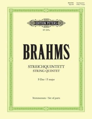 Johannes Brahms - Streichquintett in F-Dur op. 88 – Stimmen - Partition - di-arezzo.fr