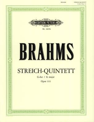 Johannes Brahms - Streichquintett G-Dur op. 111 –Stimmen - Partition - di-arezzo.fr